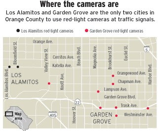 Map of Red Light Camera