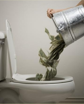 Govt. flushing money down the drain