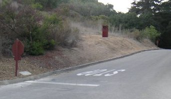 RedFlex cam in brown box in Franklin Canyon - click to enlarge the box