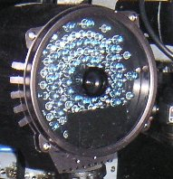 Close-up of LED 'non-visible' flash