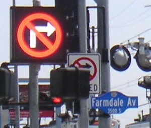 Sign at Metro's Expo Line and Farmdale, West