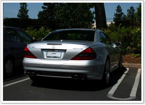Steve Jobs' car, with no plates