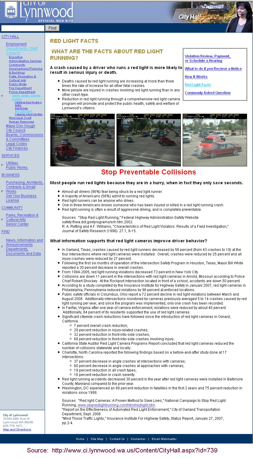 Industry PR, and Ours - Illegal Red Light Cameras